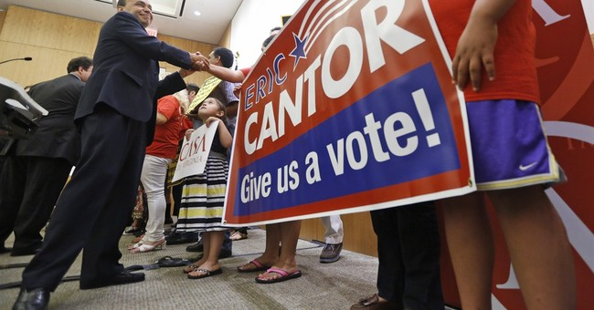 Cantor pressured from both sides on immigration