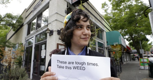 'The Weed Fairy' visits Seattle, gives out pot