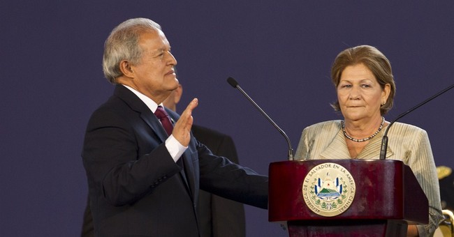 Ex-guerrilla sworn in as El Salvador's president
