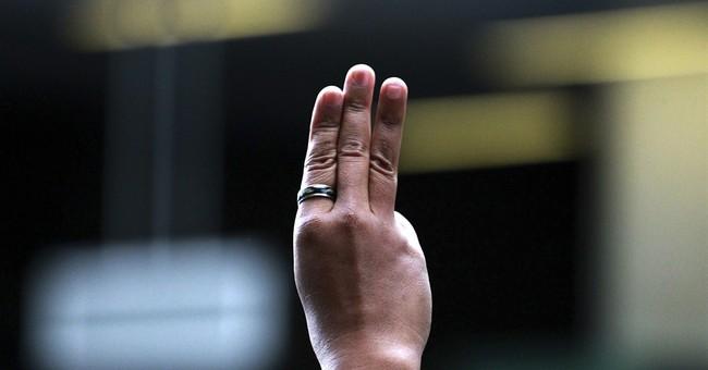 Thailand's junta warns over 'Hunger Games' salute
