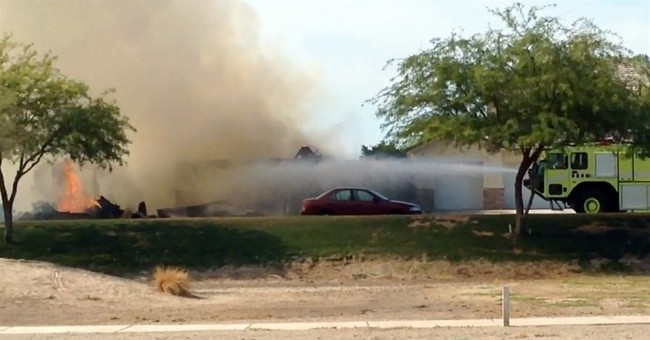 Residents relieved no one injured by military jet