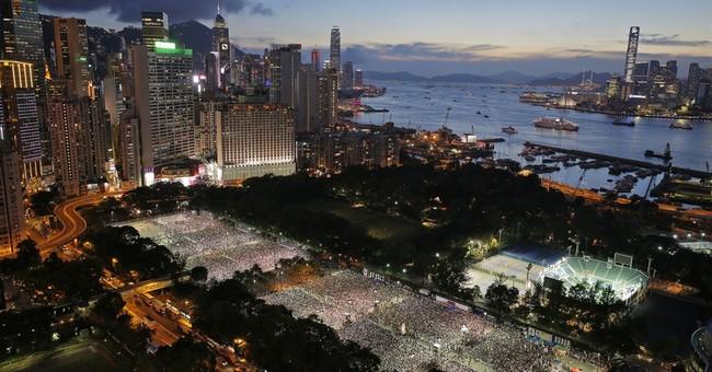Tens of thousands join Hong Kong Tiananmen rally
