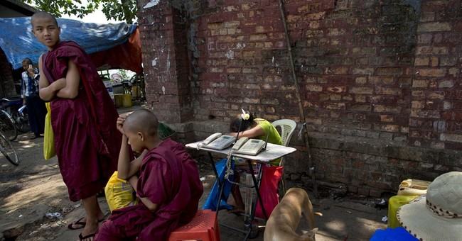 Typewriters, telegrams cling to life in Myanmar