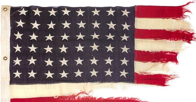 D-Day ship's US flag sells for $350K at auction