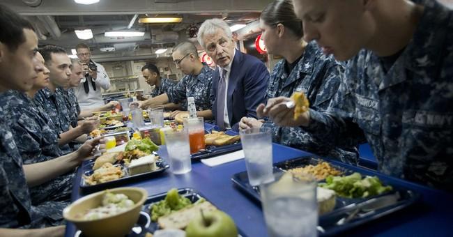 Hagel tours US Navy cruiser deployed off Romania