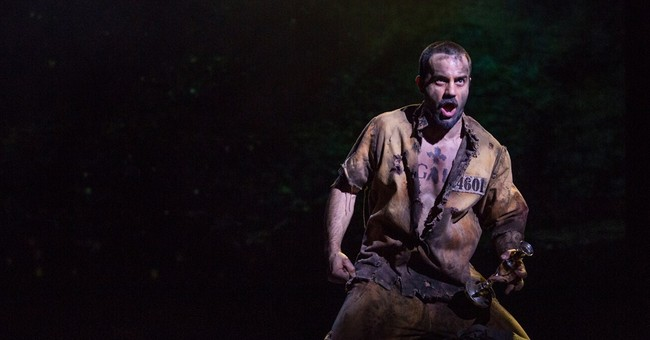 Ramin Karimloo rocking the house as Jean Valjean