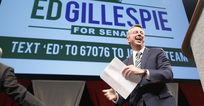 Ed Gillespie Va. GOP nominee to face Sen. Warner
