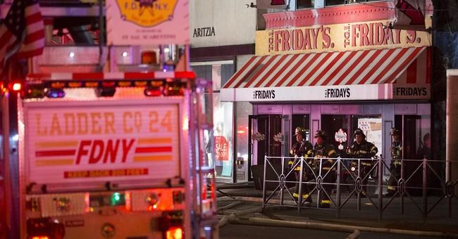Restaurant near Rockefeller Center catches fire