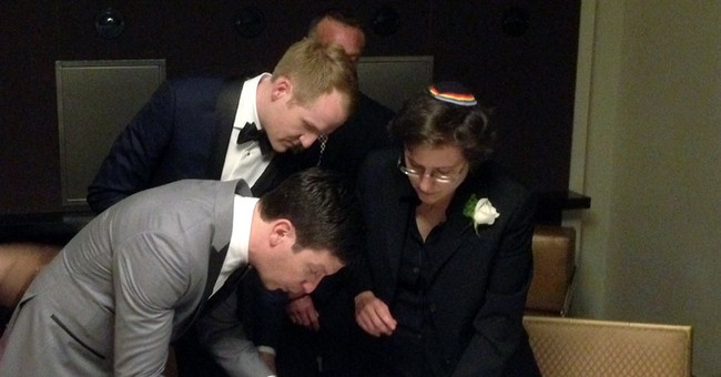 Brian, Toby and Madonna: A gay wedding, unrushed