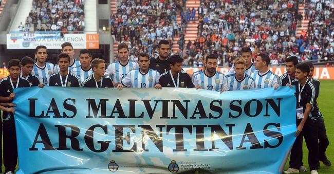 Argentina facing sanctions over Falklands banner