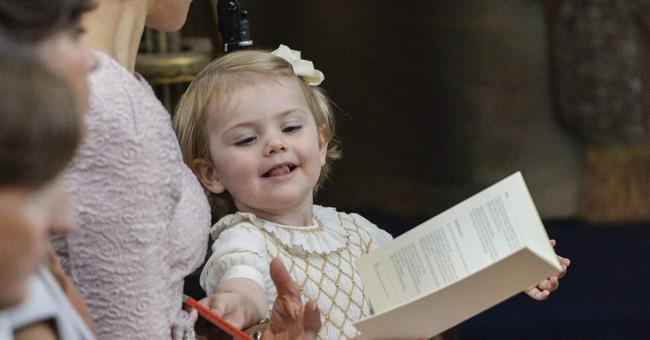 Swedish princess baptized in royal ceremony
