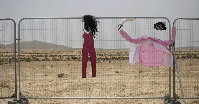 AP PHOTOS: Israel desert ablaze with 'Burning Man'