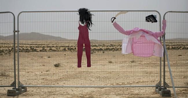 AP PHOTOS: Israel desert ablaze with 'Burning Man'