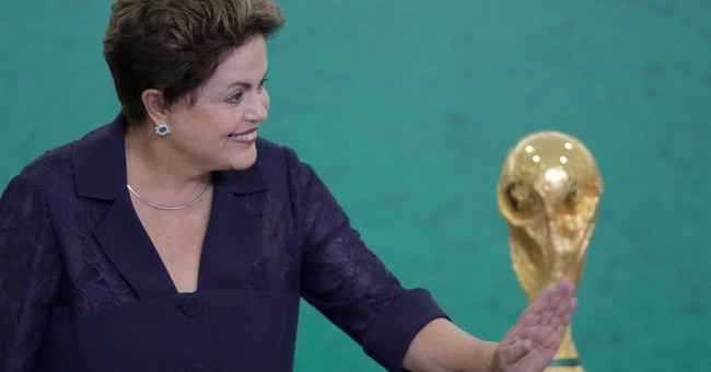 Brazil leader defends World Cup in speech