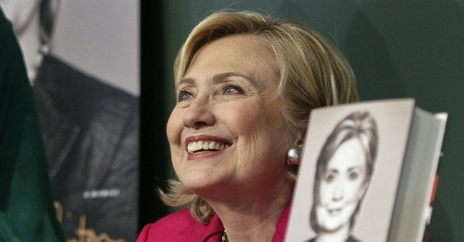 Gender politics emerge with Clinton book tour