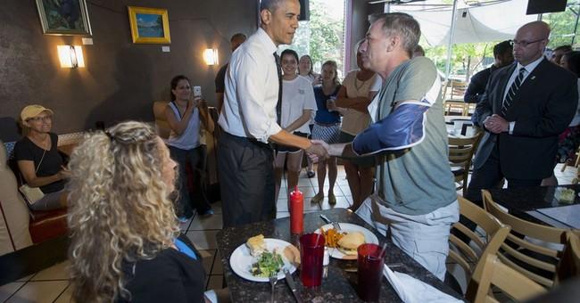 Obama, education secretary eat burgers in Virginia