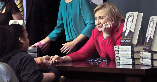 Gender politics emerge with Clinton book tour