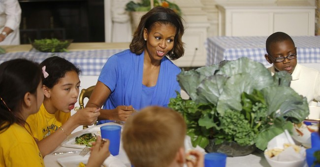 First lady pledges to fight for lunch standards