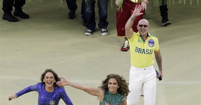 World Cup kicks off in style with Pitbull and JLo