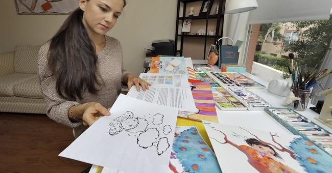 Syrian-born artist now helps child war refugees