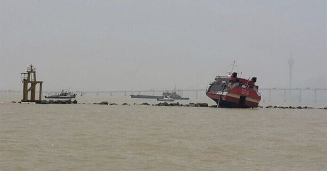 Macau hi-speed ferry hits breakwater, injuring 58