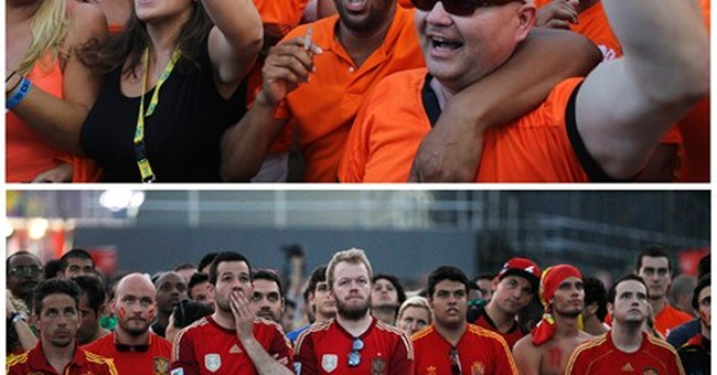 AP PHOTOS: Who won the game? No poker faces here