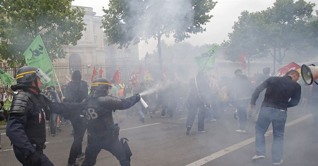 Tear gas, clashes: France fed up with train strike