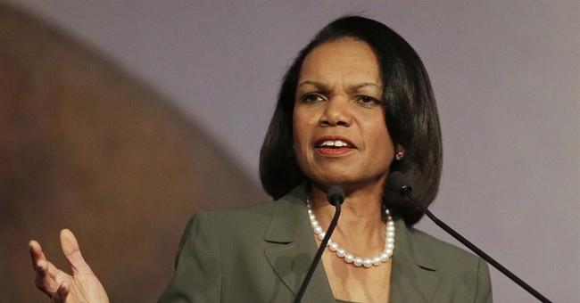 Partisan civility as Kerry honors Condoleezza Rice
