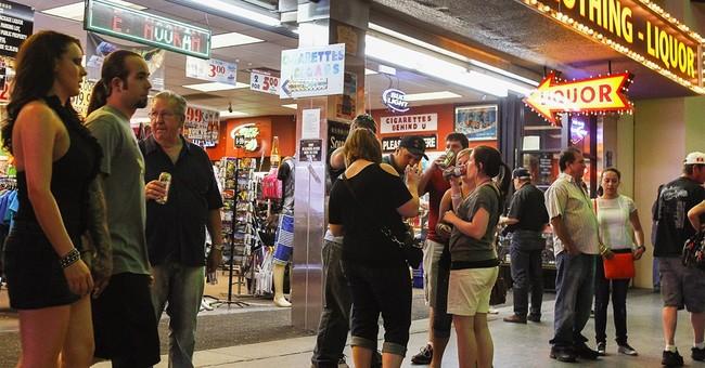 Stricter booze rules for Las Vegas' Fremont Street