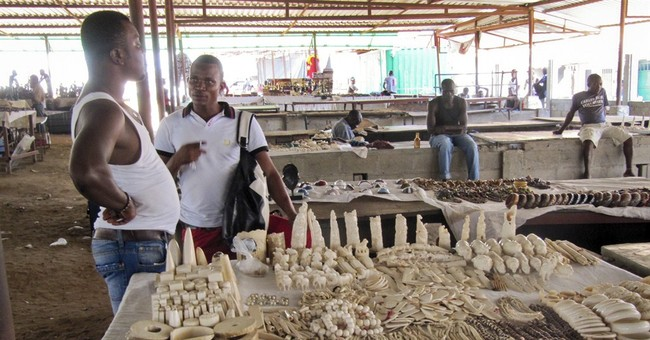Ivory for sale in Angola; big tuskers die in Kenya