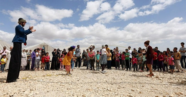 For Syria's children, clowns know laughing matters