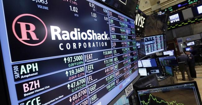 RadioShack stock closes below $1 per share