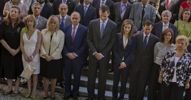 Spain's new king meets terror victims at 1st act