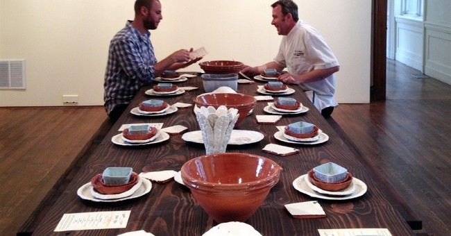Dinner at the museum: Real meal on fine ceramics
