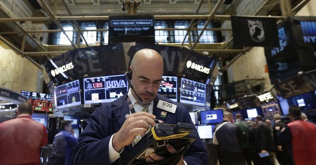 Stocks slip below records; FMC falls