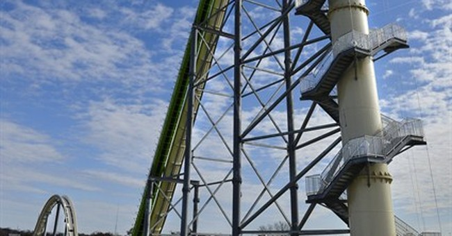 Glitch delays media preview of tallest water slide