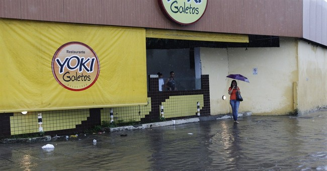 Street flooding disrupts travel to US-Germany game