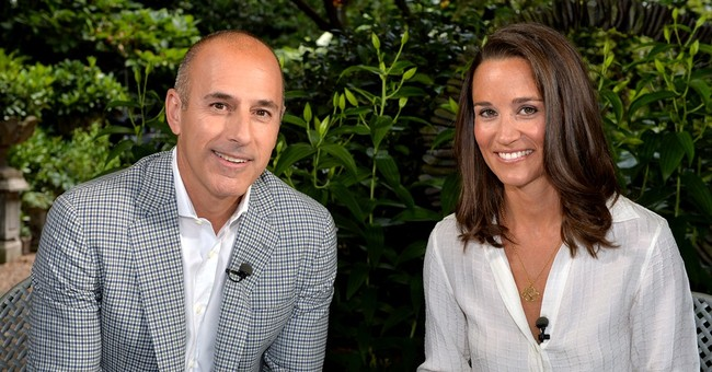 Talking to princess' sis part of Lauer's busy week