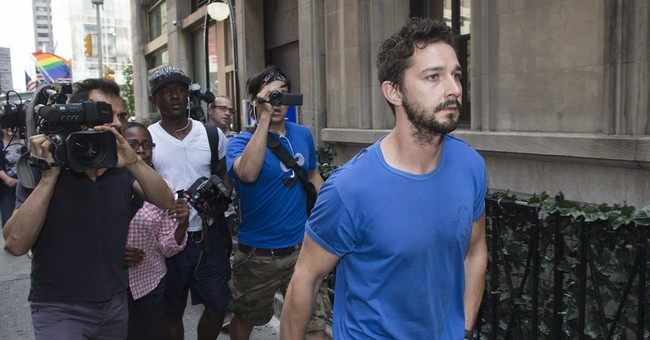 Shia LaBeouf, 'not famous' but still in headlines
