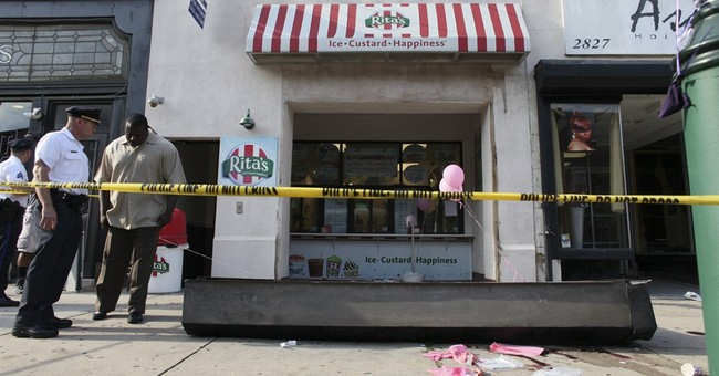 Child dies when Italian ice shop door falls on her