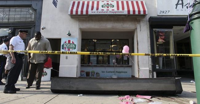 Child dies when Italian ice shop door falls on her