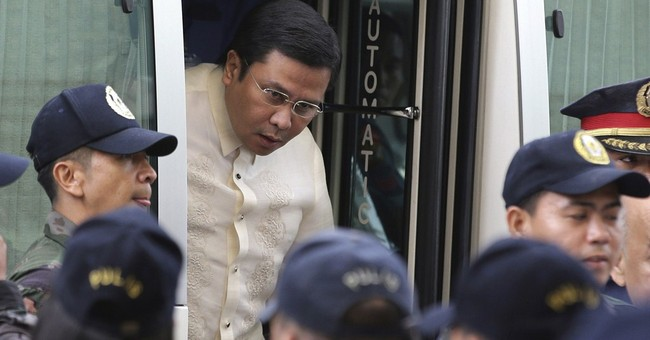 Philippine court gives not guilty plea for senator