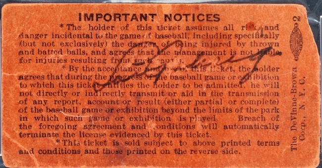 Signed ticket from Gehrig retirement hits auction
