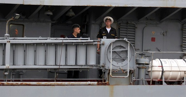 Russian navy sails to France for warship training