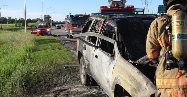 Good Samaritan rescues man from burning SUV