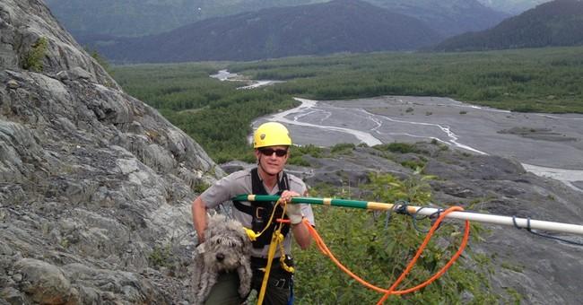 Ranger plucks dog from cliff in Alaska park