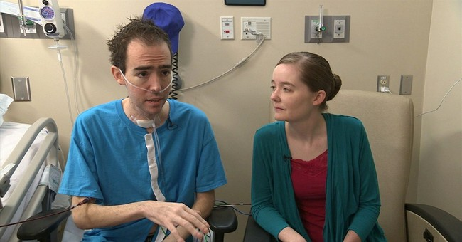 Unapproved device buys time for new pair of lungs