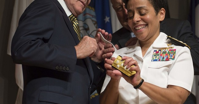 Navy has its first female four-star admiral