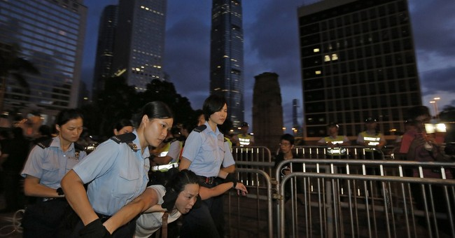 Messy protest shows rising HK fears about China