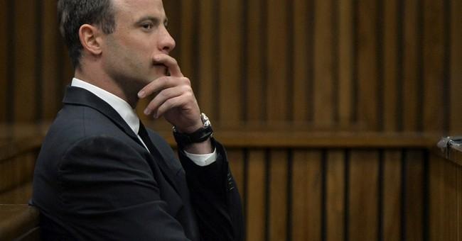 Video footage shows Pistorius re-enacting killing